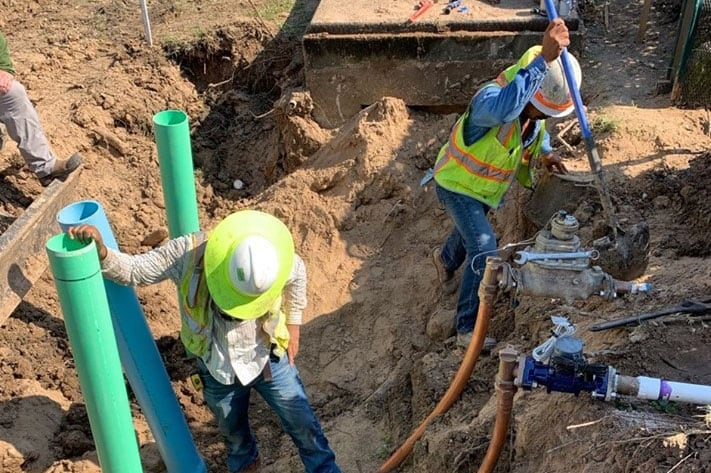 "Municipality Success Story - 8"" Water Line Repair Services"